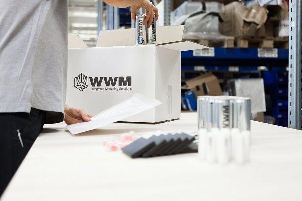 Werbemittellogistik für die Werbemittel bestellt in myWWM