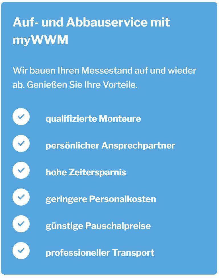Auf- und Abbauservice mit myWWM