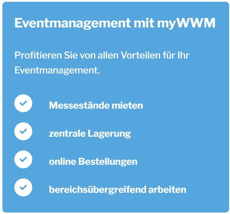 Eventmanagement mit myWWM