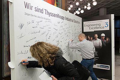 Recycelbarer Messestand bei ThyssenKrupp von WWM