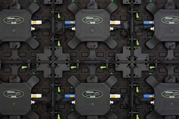 Digitaler Messestand - Rückwand der LED-Module