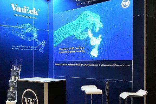 Digitaler Messestand mit kostenfreien Mietsystemen für VanEck