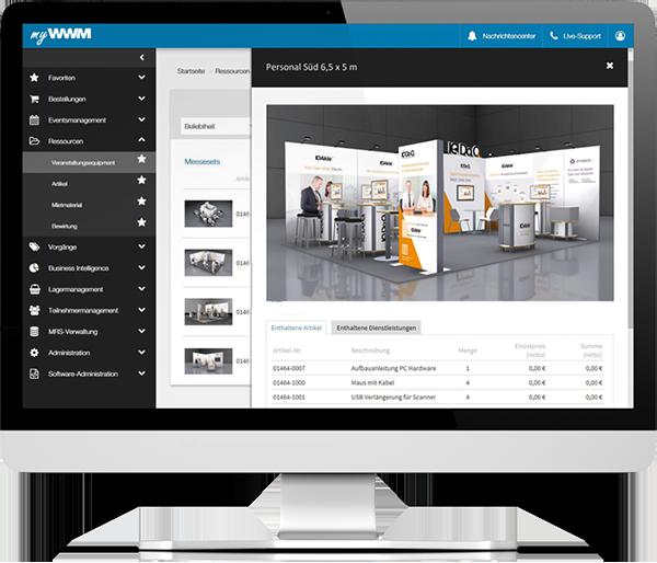 Kostenfreie Mietsysteme über die Eventmanagent-Software myWWM bestellen