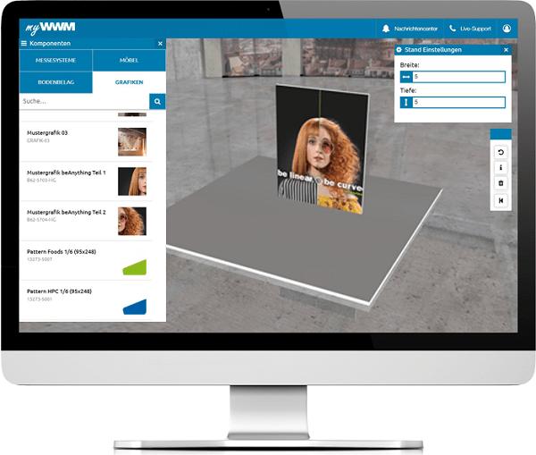 myWWM Studio für Messestände in 3D