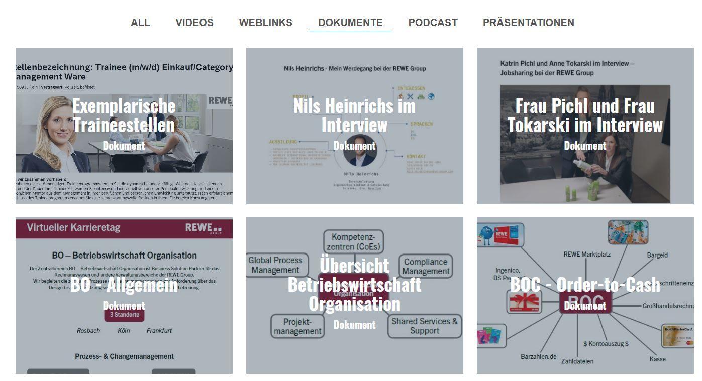 Virtueller Karrieretag - Infocenter