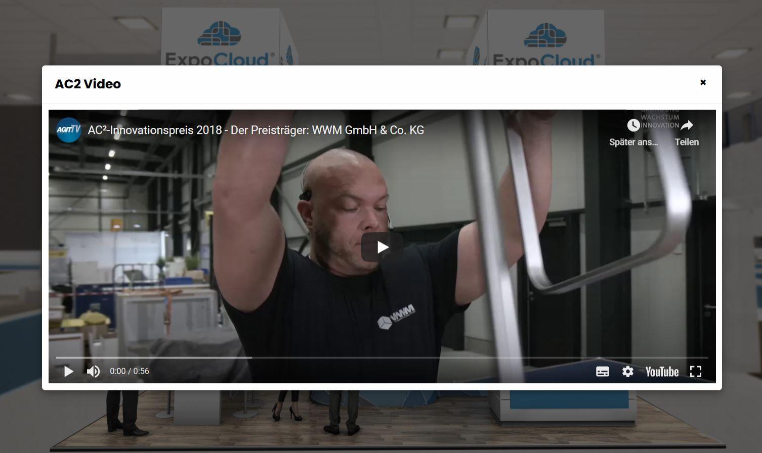Videos im virtuellen Messestand einbinden