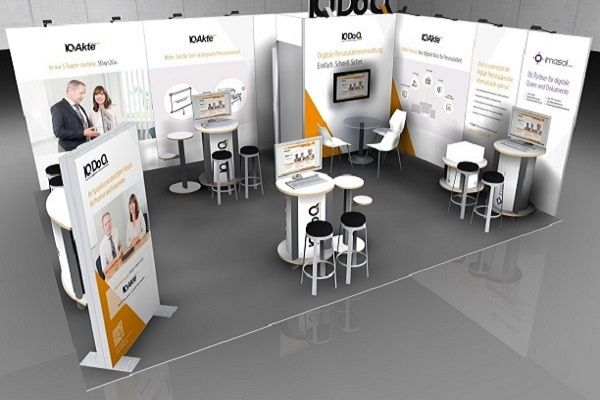 IQDoQ mobile Messesysteme Messestand