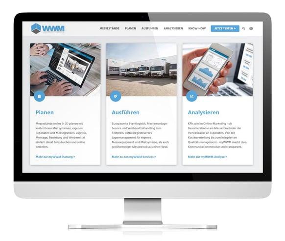 WWM Website Messe Aufmerksamkeit