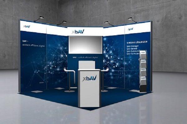 Digitaler Messestand mit kostenfreien Mietsystemen für xBAV