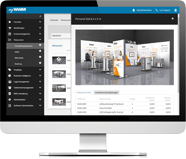 myWWM Event Resource Management software