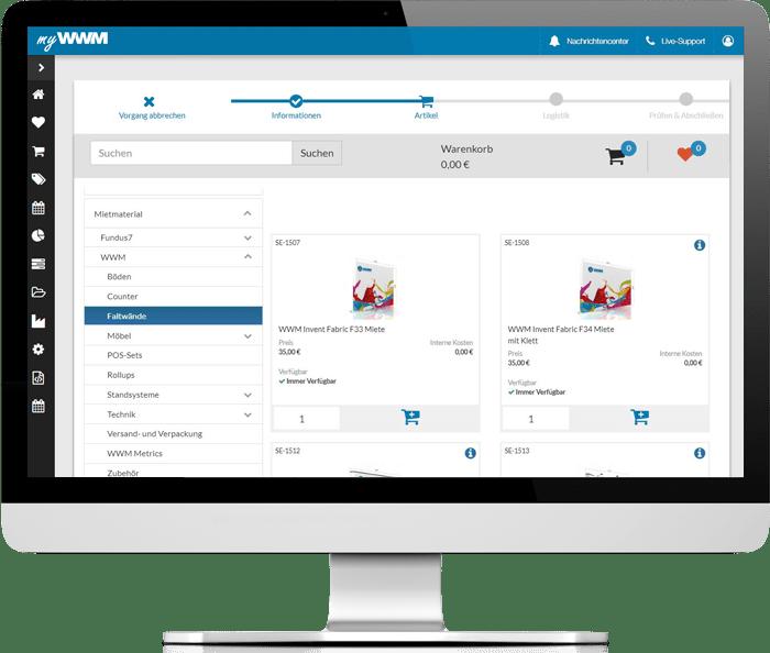 myWWM Eventmanagement Messesysteme bestellen