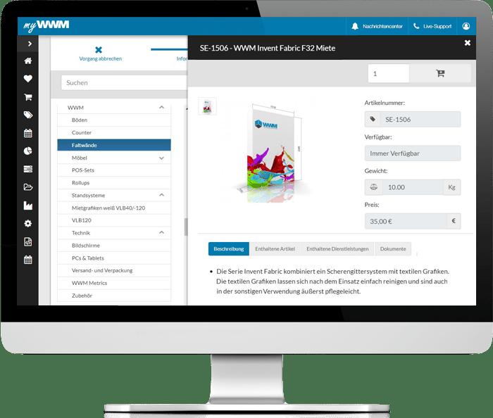 myWWM Eventmanagement Produktdaten Übersicht