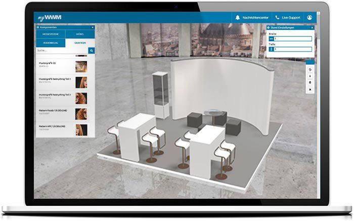 myWWM Studio 3D - Online Messestand Planer für intelligentes Eventmanagement