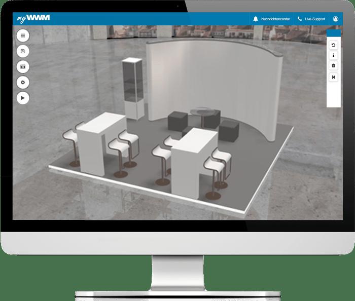 myWWM Studio 3D Messestand als PDF speichern