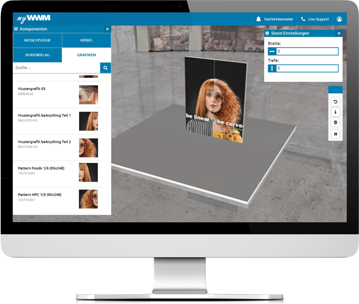 myWWM Studio 3D Messestandplaner Messegrafiken