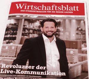 WWM Pressemeldung - Cover Wirtschaftsblatt Revoluzzer der Live-Kommunikation