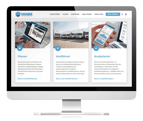 Für Event-Manager konzipiert: WWMs neue Website