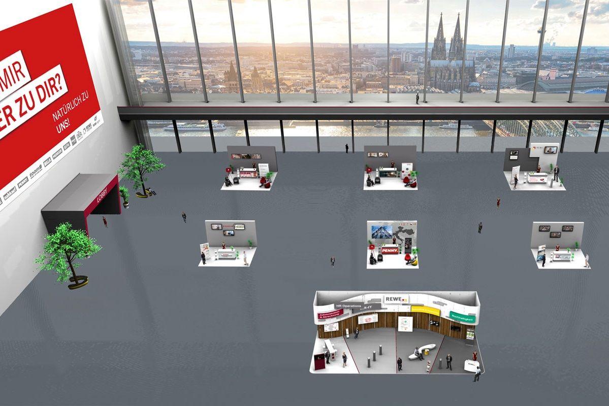 Messehalle der virtuellen Messe