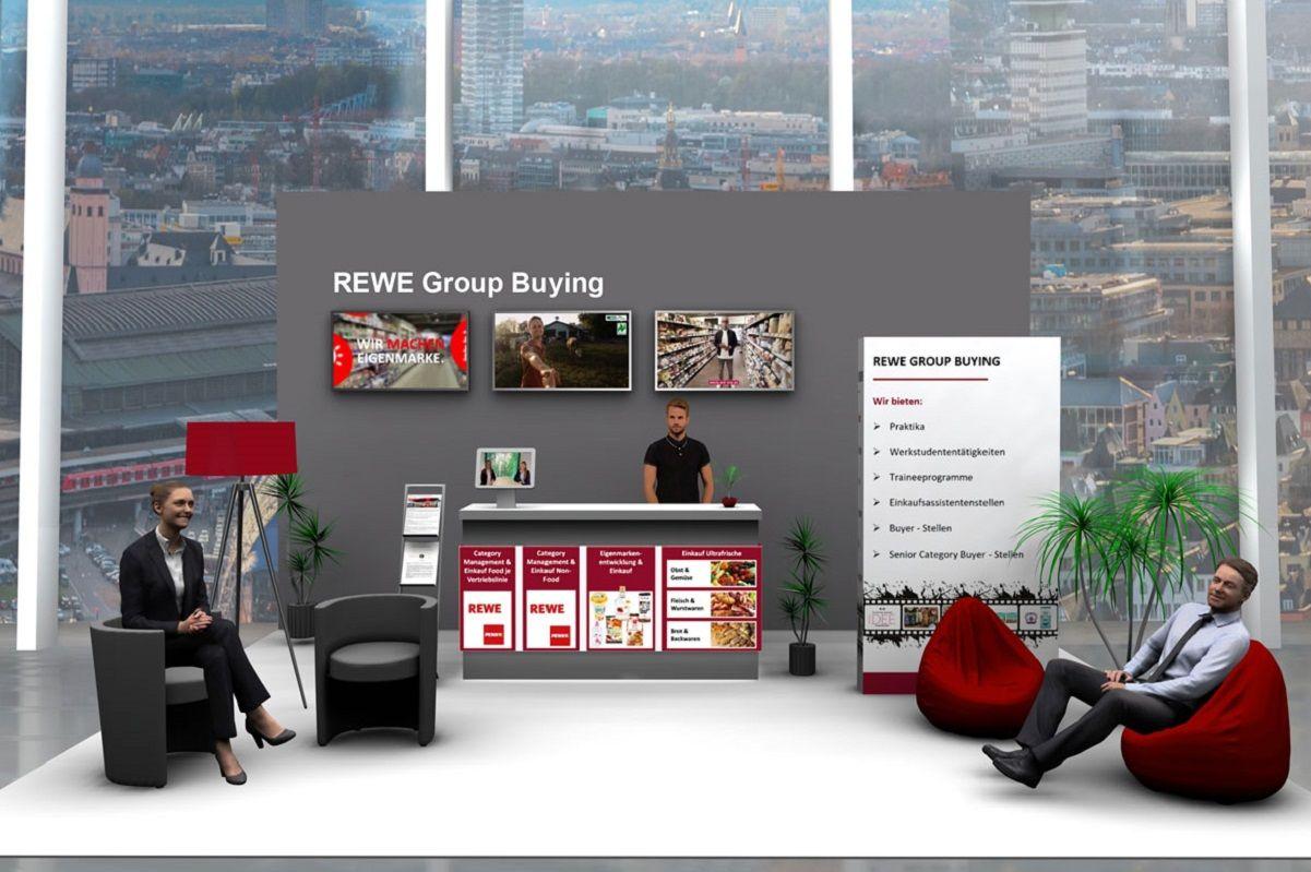 Messestand REWE Group Buying der virtuellen Messe
