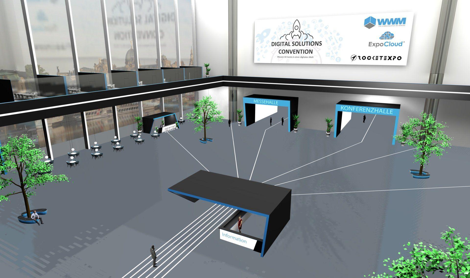 Die virtuelle Eventplattform