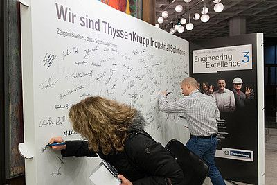 Recyclebare Displays am DAY ONE von ThyssenKrupp Industrial Solutions